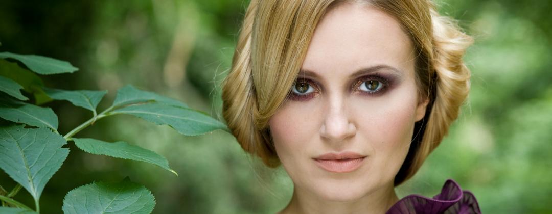 Makijaż wykonany na plenerową sesję zdjęciową w Krakowie